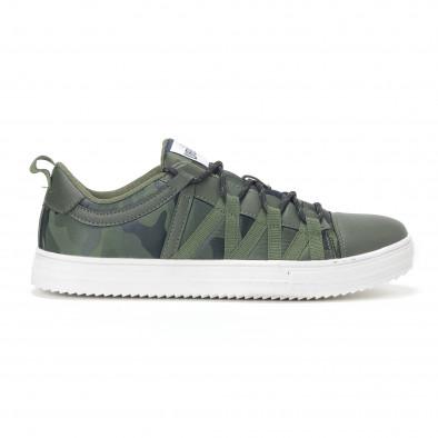 Ανδρικά πράσινα sneakers παραλλαγής με κορδόνια it160318-6 2