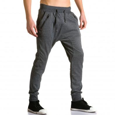 Ανδρικό γκρι παντελόνι jogger Furia Rossa ca190116-18 4