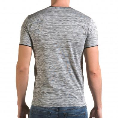 Ανδρική γκρι κοντομάνικη μπλούζα Lagos il120216-36 3