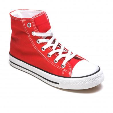 Ανδρικά κόκκινα sneakers Dilen it170315-11 3