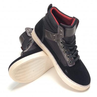Ανδρικά μαύρα sneakers Reeca it100915-22 4