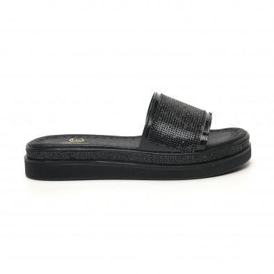 Γυναικείες μαύρες παντόφλες Bodrum tr180320-1 2