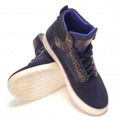 Ανδρικά γαλάζια sneakers Reeca it100915-21 4