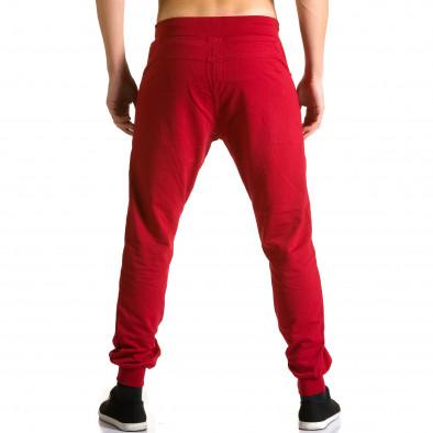 Ανδρικό κόκκινο παντελόνι jogger DelPiero ca190116-24 3