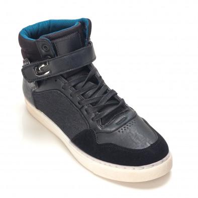 Ανδρικά μαύρα sneakers Reeca it100915-20 3