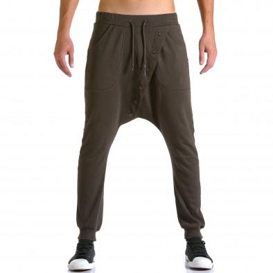 Ανδρικό καφέ παντελόνι jogger Devil Slayer ca260815-25 2