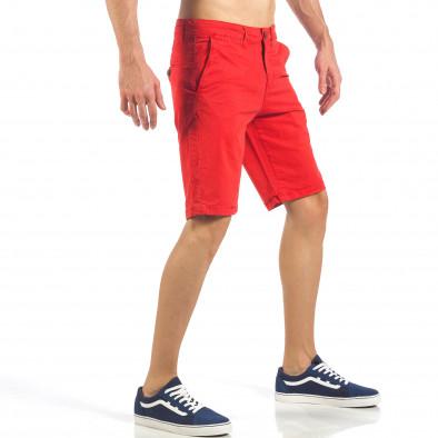 Ανδρική κόκκινη βερμούδα με ιταλικές τσέπες it260318-138 4