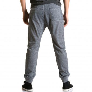 Ανδρικό γκρι παντελόνι jogger Dress & GO ca190116-28 3