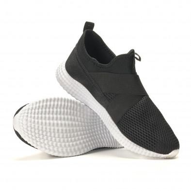 Ανδρικά μαύρα αθλητικά παπούτσια Naban it110517-2 4