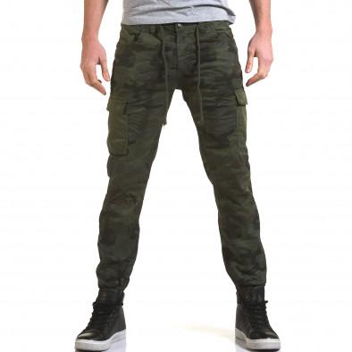 Ανδρικό πράσινο παντελόνι Yes Design it090216-11 2