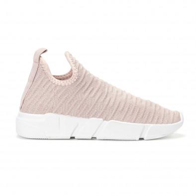 Γυναικεία ροζ αθλητικά slip-on κάλτσα χωρίς κορδόνια it160318-64 2 ... d7a5d4dad15