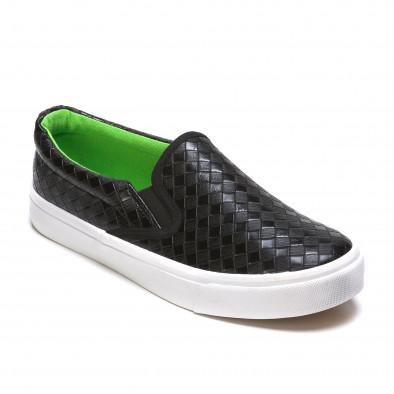Ανδρικά μαύρα sneakers Niweile It050216-9 3