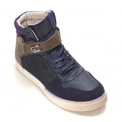 Ανδρικά γαλάζια sneakers Reeca it100915-19 3