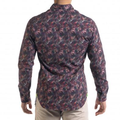 Ανδρικό πολύχρωμο πουκάμισο Open tr110320-100 3