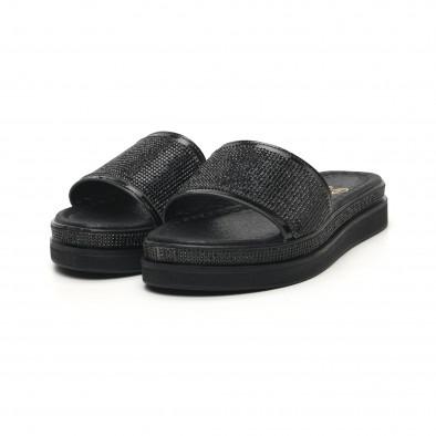 Γυναικείες μαύρες παντόφλες Bodrum tr180320-1 3
