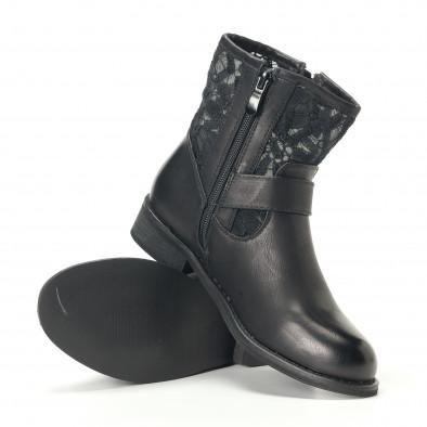 Γυναικεία μαύρα μποτάκια Diamantique it240118-5 5