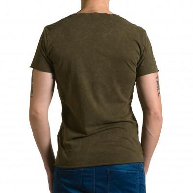 Ανδρική πράσινη κοντομάνικη μπλούζα Adrexx ca190116-46 3