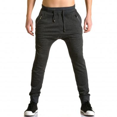 Ανδρικό μαύρο παντελόνι jogger Furia Rossa ca190116-19 2
