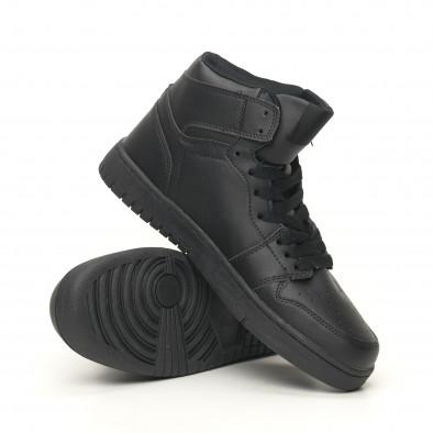 Ανδρικά ψηλά μαύρα sneakers it051219-1 4