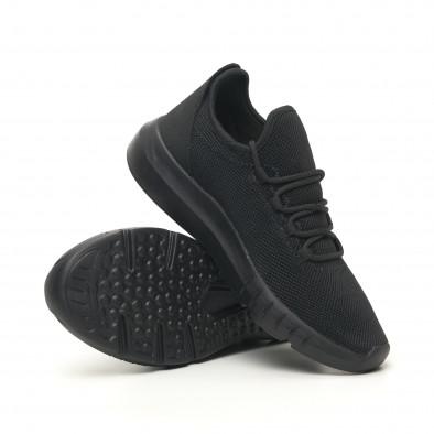 Ανδρικά αθλητικά παπούτσια ελαφρύ μοντέλο All Black it041119-4 4