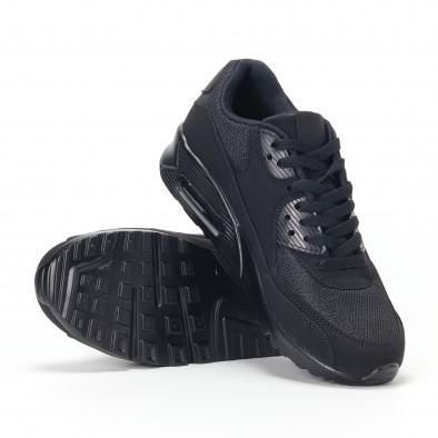 Ανδρικά μαύρα αθλητικά παπούτσια με σόλες αέρα it160318-1 4