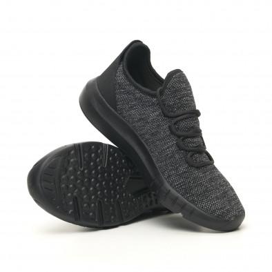 Ανδρικά μαύρα μελάνζ αθλητικά παπούτσια ελαφρύ μοντέλο it041119-6 4