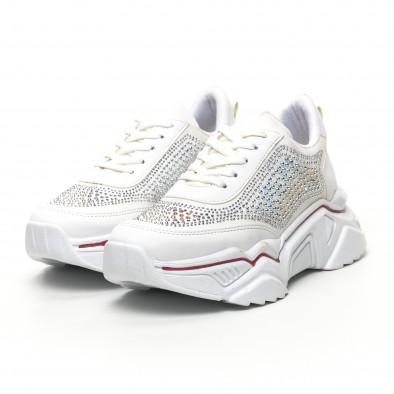 Γυναικεία λευκά sneakers Seribo tr180320-16 2