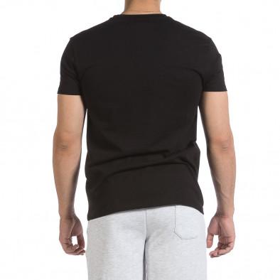 Ανδρική μαύρη κοντομάνικη μπλούζα Givova it040621-19 3