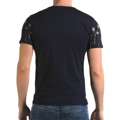 Ανδρική γαλάζια κοντομάνικη μπλούζα Lagos il120216-39 3