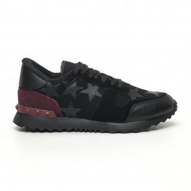 Ανδρικά μαύρα αθλητικά παπούτσια FM tr180320-27 2