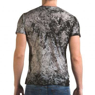 Ανδρική γκρι κοντομάνικη μπλούζα Lagos il120216-10 3