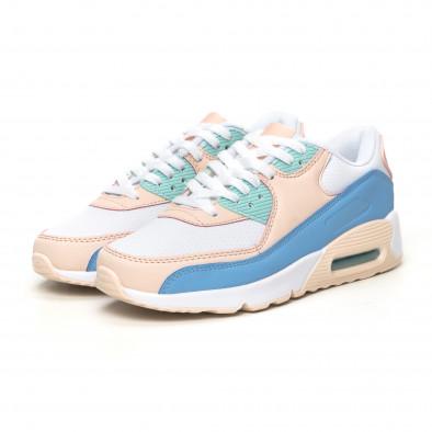 Γυναικεία αθλητικά παπούτσια με αερόσολα σε απαλά χρώματα it051219-12 3