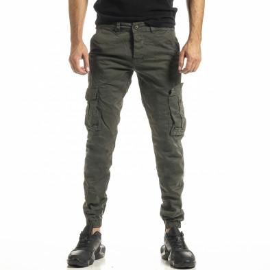 Ανδρικό πράσινο παντελόνι Cargo Jogger tr161220-19 2