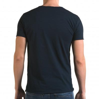 Ανδρική γαλάζια κοντομάνικη μπλούζα FM it090216-75 3