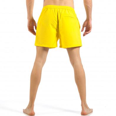 Ανδρικό κίτρινο μαγιό με φερμουάρ και κουμπί  it260318-203 4