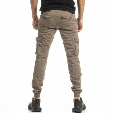 Ανδρικό μπεζ παντελόνι cargo Jogger tr180121-1 3