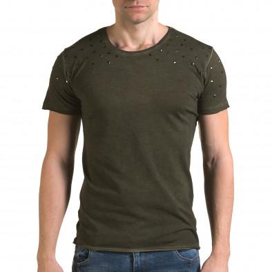 Ανδρική πράσινη κοντομάνικη μπλούζα Lagos il120216-3 2