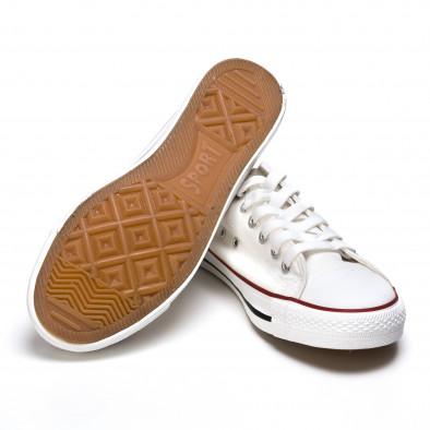 Ανδρικά λευκά sneakers Dilen it170315-13 4