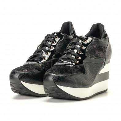 Γυναικεία μαύρα αθλητικά παπούτσια Sergio Todzi it200917-29 3