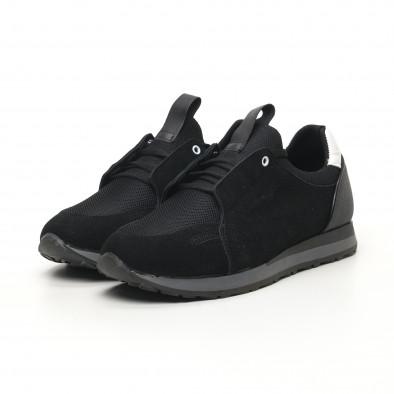 Ανδρικά μαύρα αθλητικά παπούτσια FM tr180320-31 5