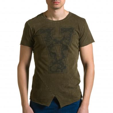 Ανδρική πράσινη κοντομάνικη μπλούζα Adrexx ca190116-46 2