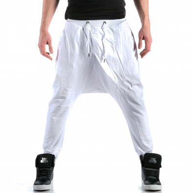 Ανδρικό λευκό παντελόνι jogger Bruno Leoni ca110215-15 2