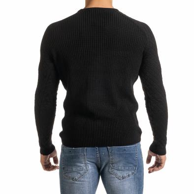 Ανδρικό μαύρο πουλόβερ Lagos it301020-16 4