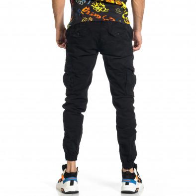 Ανδρικό μαύρο παντελόνι cargo Blackzi tr270421-8 3
