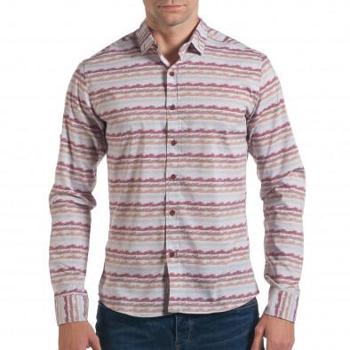 Ανδρικό γκρι πουκάμισο Mario Puzo tsf061016-1 2
