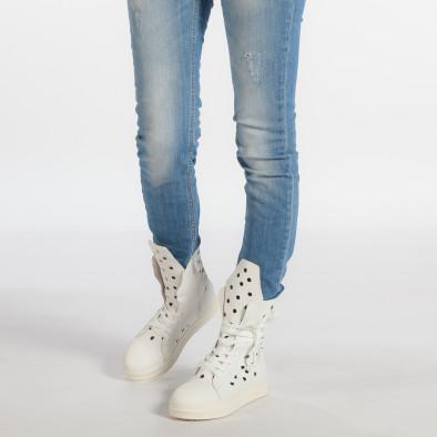Γυναικεία λευκά μποτάκια Fersini it240118-29 3