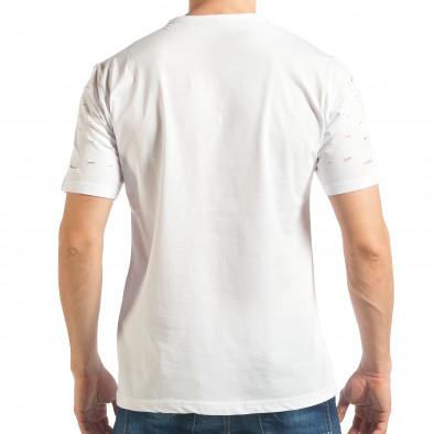 Ανδρική λευκή κοντομάνικη μπλούζα Black Island tsf020218-30 3
