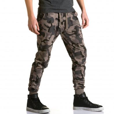 Ανδρικό πράσινο παντελόνι jogger Belmode ca190116-30 4