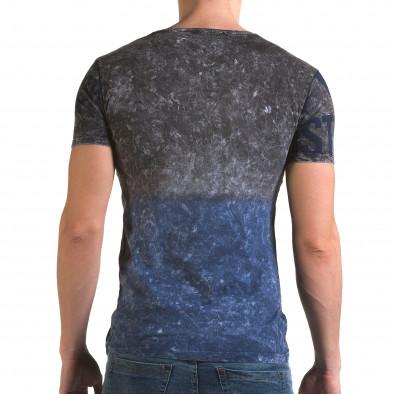 Ανδρική γαλάζια κοντομάνικη μπλούζα Lagos il120216-24 3