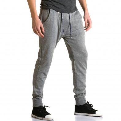 Ανδρικό γκρι παντελόνι jogger Furia Rossa ca190116-14 4